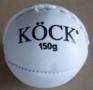 Kriketový míček atletika pravá kůže, bílý -