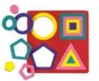 Geometrické tvary vkládací 920 Eva pěna -