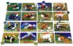 Zvířátka jednotlivá puzzle -